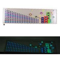 Dài-Cuộc Sống Car Âm Nhạc Nhịp Điệu Đèn LED Flash Sticker 90 cm * 25 cm 12 V Tự Động Musical Ghi Chú Logo Âm Thanh Ánh Sáng Hoạt Dán