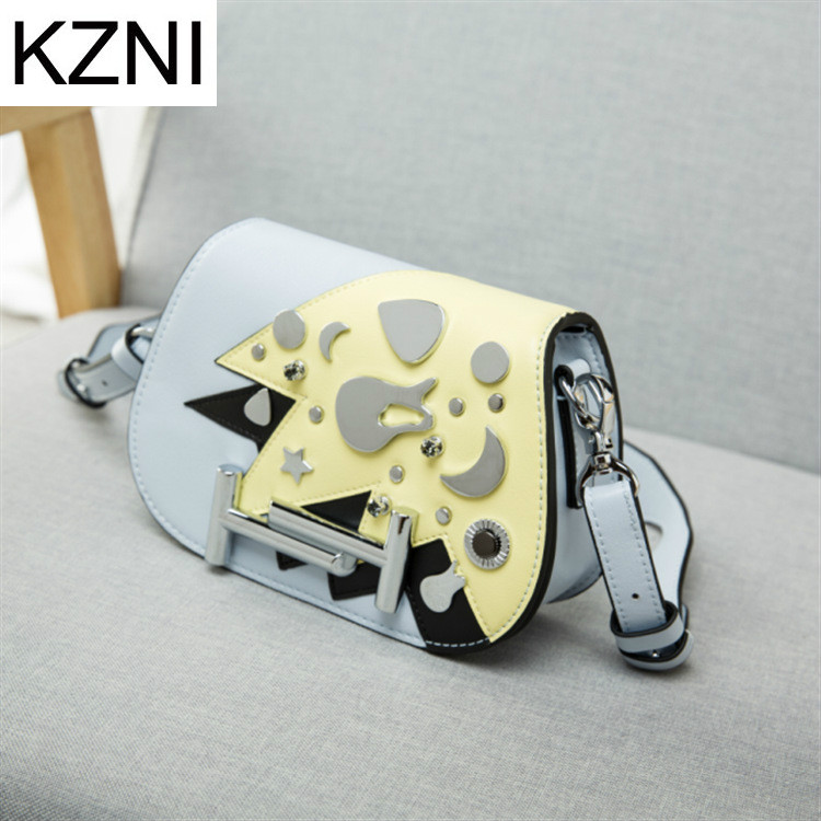 KZNI Genuine Leather Purse Crossbody Shoulder Women Bag Clutch Female Handbags Sac a Main Femme De Marque L030636