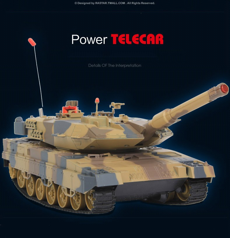 Original RC Tank Model Toys Remote Control War Tank with Light for Boys Children Gifts