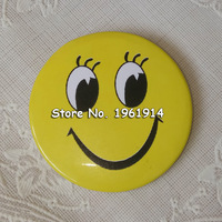100pcs Lot Smile Face Badges Pin On Button Broochs Smiley Face Icons Smile Open Eyes Fun