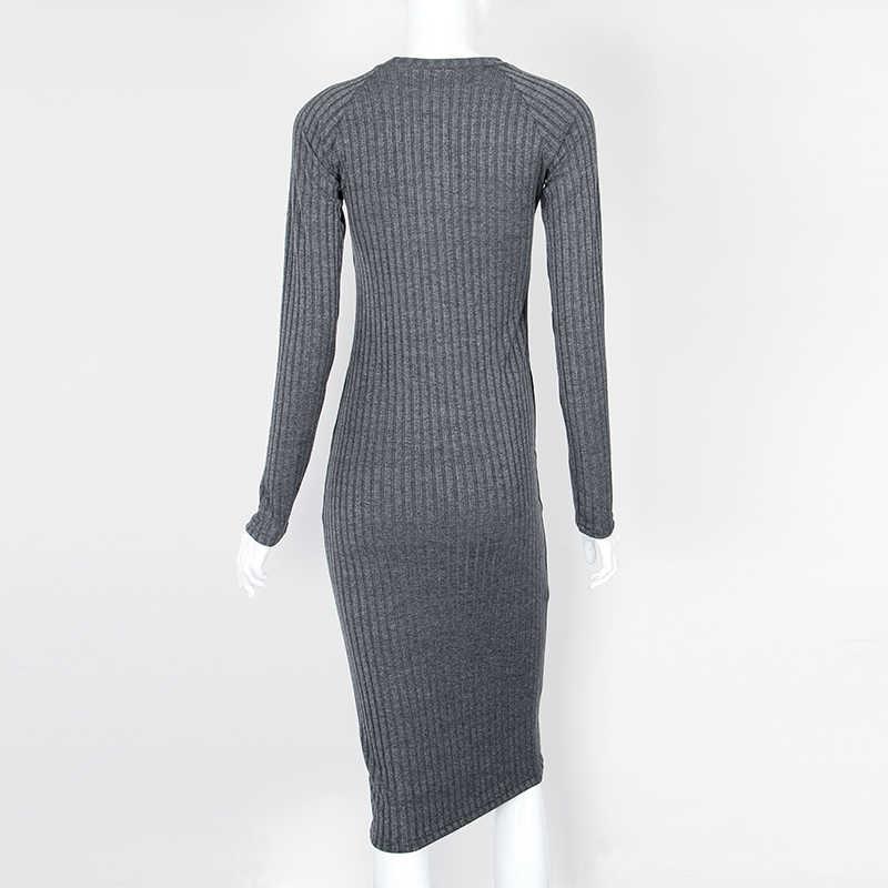 0cd451d0e6a ... Женское осенне-весеннее платье халат сексуальное черное миди облегающий