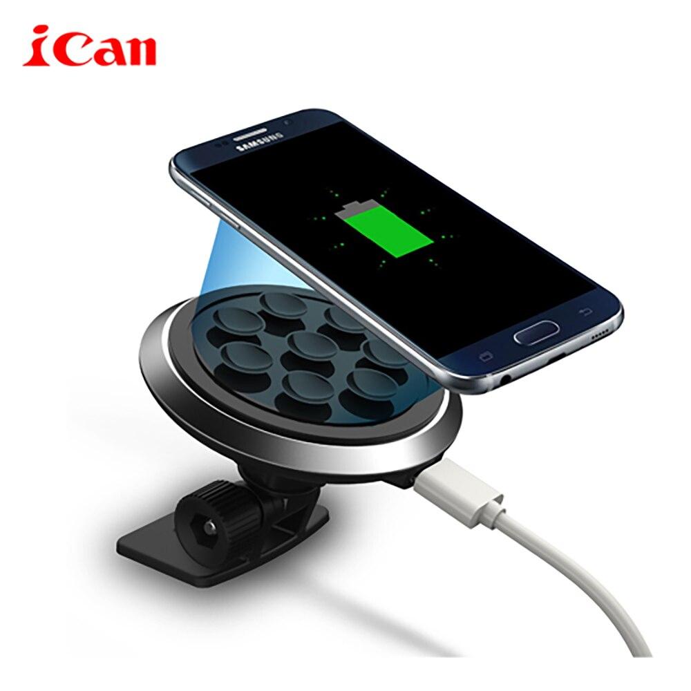 iCan car charger wireless standard di aspirazione di vuoto appiccicoso pad ricarica per for