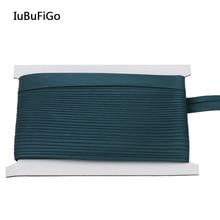 """5/""""(17 мм) зеленая косая лента для переплета для пошив одежды «сделай сам» и обрезки полиэстер 25 ярдов/рулон"""
