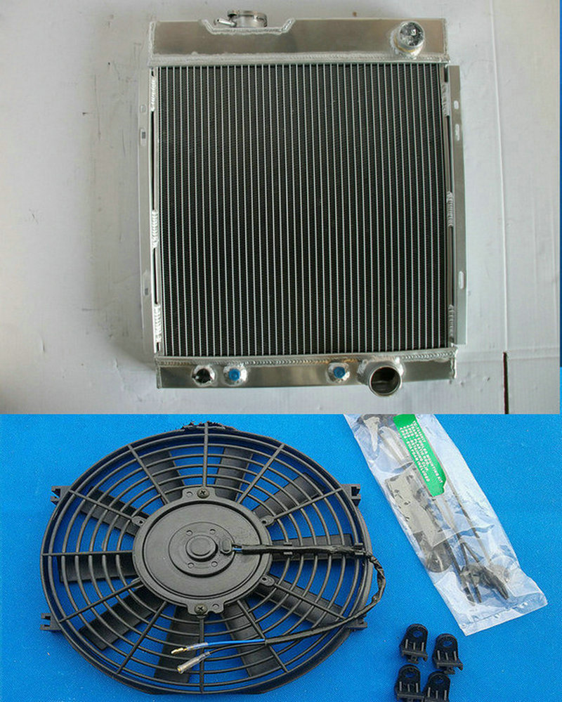 Online Shop Aluminum Radiator 14 Fan For 1964 1965 1966 Ford 69 Plymouth Fury Mustang 289 302 Windsor V8 Engine At 64 65 66 Aliexpress Mobile