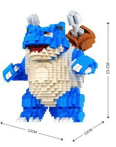 Image 4 - Большой размер, Мультяшные мини блоки Charizard DIY, строительные блоки, бластвуза, детский аниме, модель для аукциона, игрушки для детей, подарки