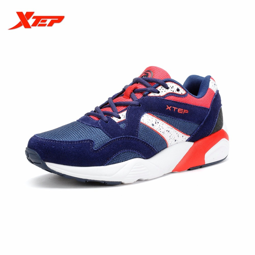 XTEP Men Shoes Man Sport 2017 Breathable Men's Trainers Brand Running Original Sports Classic Retro Style Vintage Sneakers
