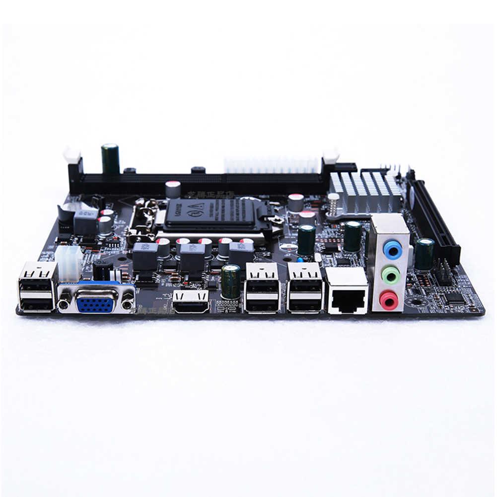 Baru Papan Utama LGA 1155 untuk Intel H61 DDR3 Memori Dual Channel 16GB Mainboard Komputer LGA1155 untuk I3 I5 i7 Xeon Pentium