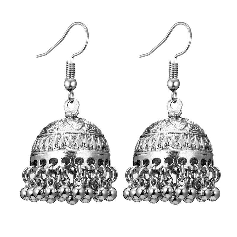 Detail Feedback Questions about Indian Jhumka Gypsy Jewelry Sliver Color  Boho Vintage Ethnic Womens Earrings Hollow Water Drop Earrings For Women  2018 CE633 ... 38025aa8bbc2