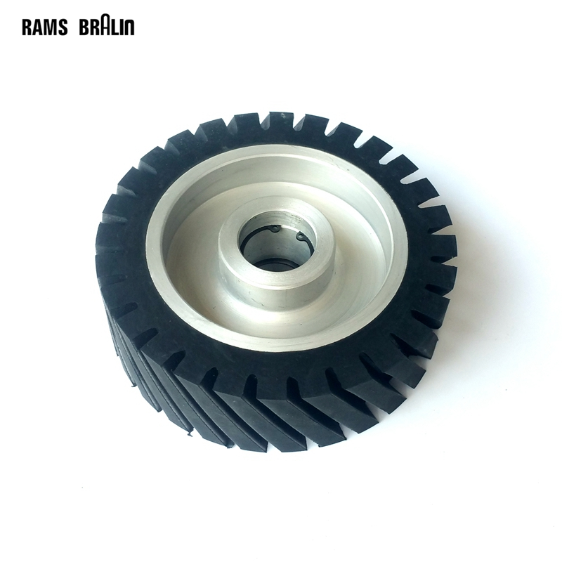 150*50mm Diagonal Rubber Contact wheel Belt Grinder Wheel Abrasive Belt Set