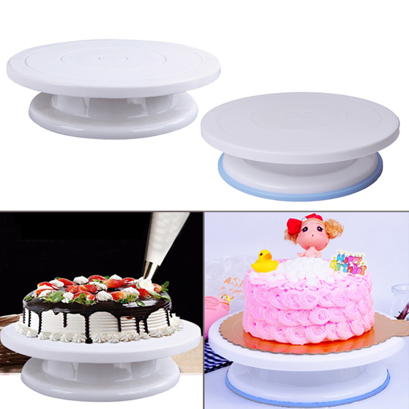 US $7.69 33% OFF|Hifuar 10 Inch Plastic Baking Cake Decorating Tools Round  Plastic Cake Rotary Table DIY Cake Turntable Anti skid Rotating Pan-in ...