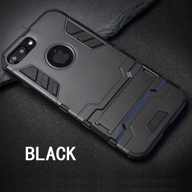 Pentru iPhone 6 6s 6plus PC + silicon anti-șoc armură scut Husa 3D - Accesorii și piese pentru telefoane mobile