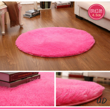 Pink White Black Soft Plush Shaggy Round Carpet Non-Slip Floor Mats Rug Yoga Mat For Bedroom Parlor Living Room Home Supplies