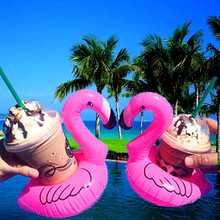 10Pcs Flamingo Party Decor Inflatable Drink Cup Holder Baby Shower Pool Toy Wedding Decoration Table Bachelorette Supplies