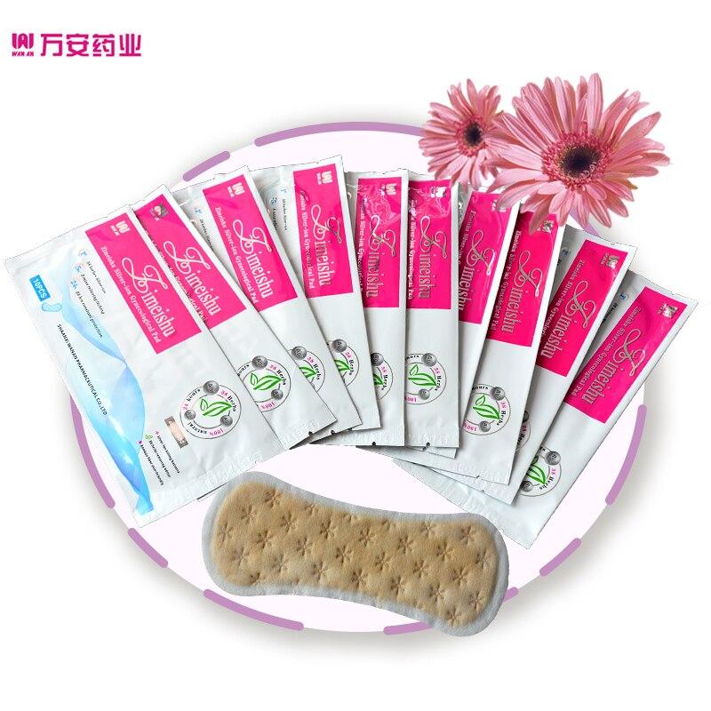 100 pcs = 10 packs zimeishu argent-ion guérison et soins pad Gynécologique Pad pad féminin pour femmes santé