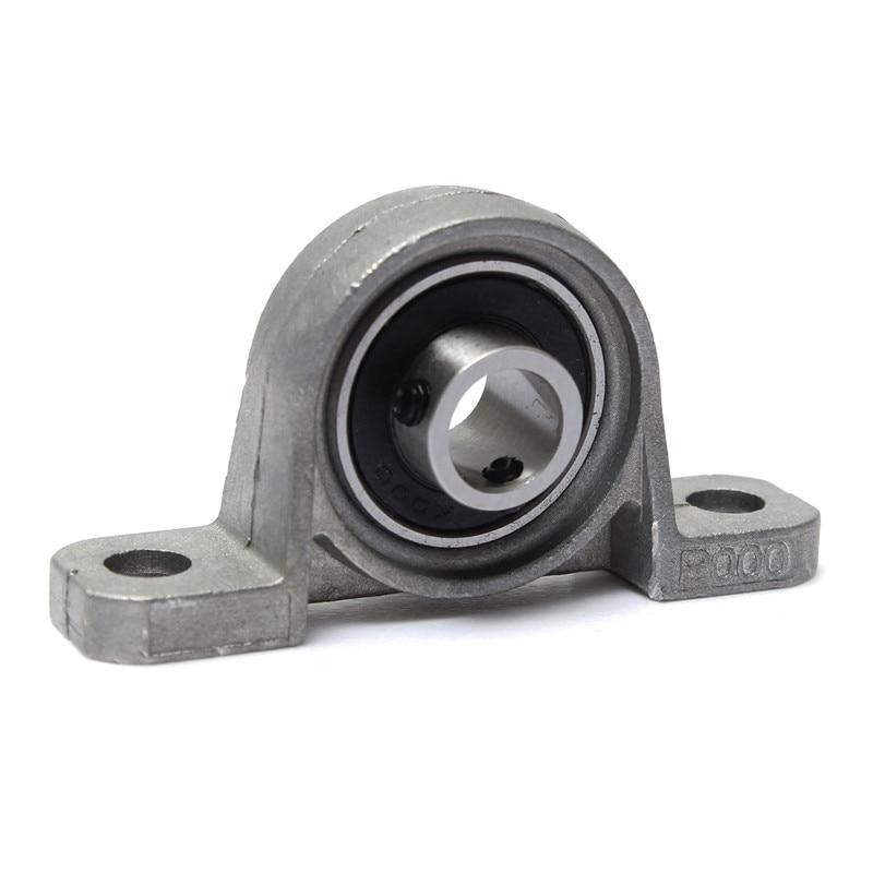 Pillow Block KP000 10mm Bore Diameter Zinc Alloy Metal Ball Bearing Industrial Mechanical Tools 67x18x35mm