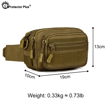 PROTECTOR PLUS Multipurpose Handbag Men Tactical Molle Messenger Bag Waterproof Military Camo Climbing Travel Waist bag Sports 2