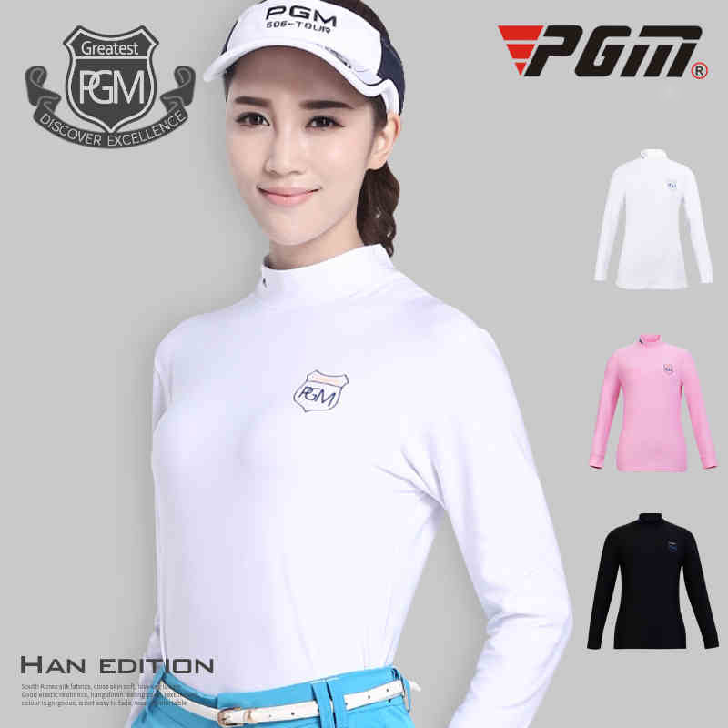 PGM Spring autumn golf Sportswear lady sports summer sun protection shirt womens Long Sleeved breathable Quick Dry Anti-Pilling