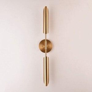 Image 4 - Минималистичные бронзовые светодиодные Настенные светильники для фойе, современное бра для спальни, прикроватного столика, коридора, скандинавский светильник в стиле лофт