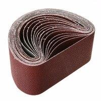 15pcs Aluminum Oxide Sanding Belt Mix 40 80 120 Grits Sanding Belt For Belt Sander Power