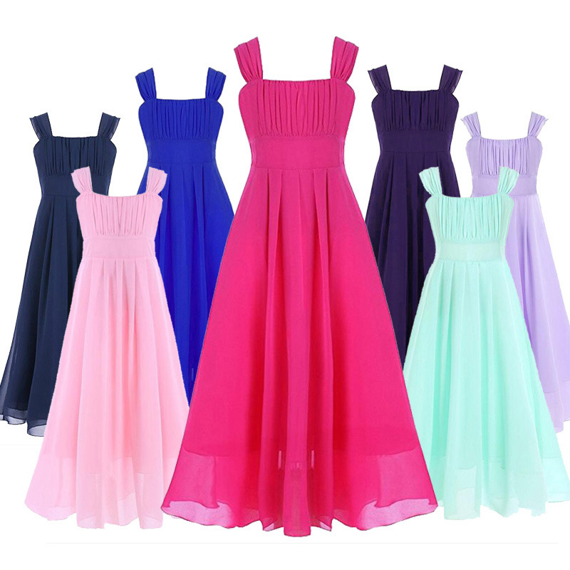 2017 New Teenage Costume Girls Evening Dresses for Party Wear Gowns Kids Clothes Sundresses Children Girl Long Dress Robe Fille baby girls white dresses for wedding and party wear girl princess dress kids lace clothes children costume age 3 4 5 6 7 8 9 10
