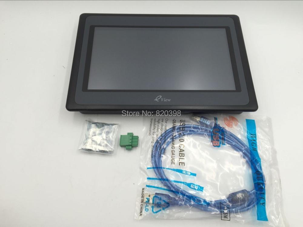 New 10.1 inch HMI Touch Operator Panel Display Screen Eview ET100 1024*600 with Free Programming Cable&Software 1 Y Warranty комплект стеклоочистителей denso wb flat blade 550 480 мм df 027