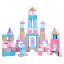 Wooden blocks Baby Toys animals city For Children DIY Presents Nursing Gift Block