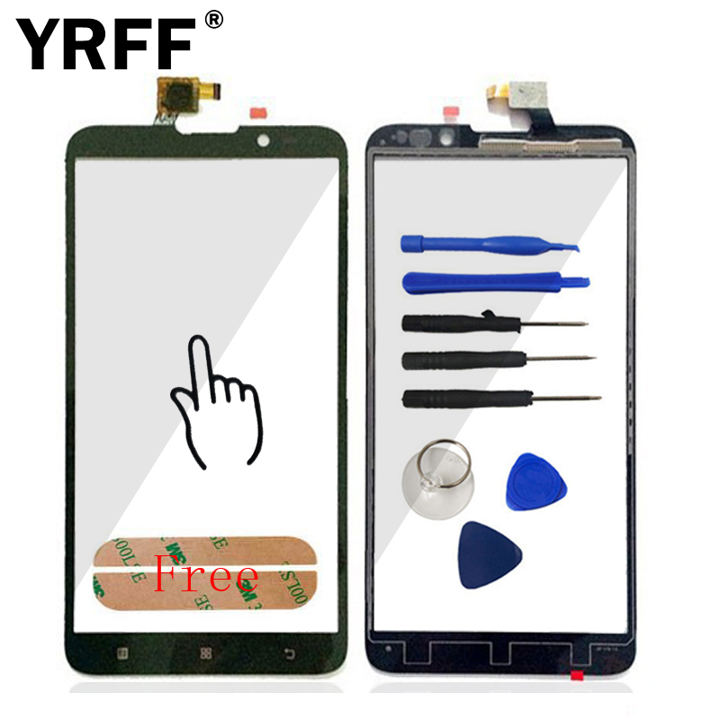 A Quality Touchscreen HighScreen For Lenovo S939 Touch Screen Digitizer Panel Front Glass Sensor Sticker Free