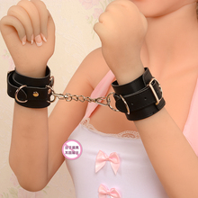 1 Pair Sex Game Handcuffs for Sex Product Pink Red Black Size could Adjusted Sex Toys for Adult Restrictions Bondage for Women