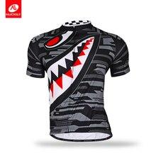 все цены на Nuckily  summer short sleeve customized polyester sharp tooth design mountain bicycle jersey for menMA001 онлайн