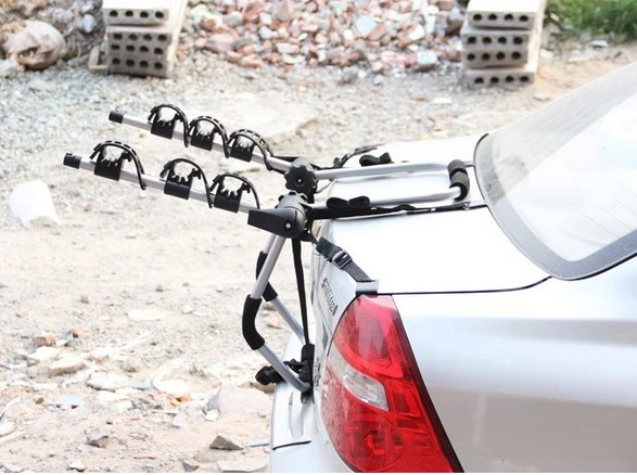 Bike Bicycle Rear Rack Carrier Mount Holder Back <font><b>Car</b></font> Truck holds 3 Bikes