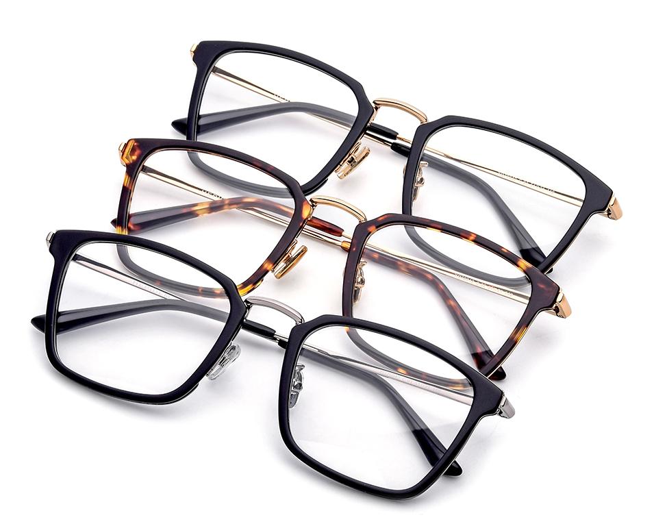f3550747dd Titanium Glasses Frame Men Ultralight 2018 Women Square Myopia Prescription  Eyeglasses Korean Screwless Eyewear Optical Frames 981. US   23.36-27.55 Piece