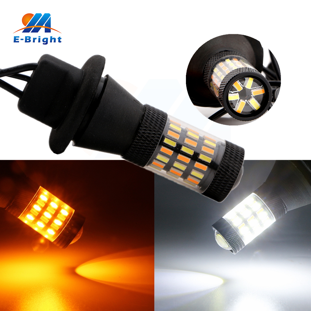 10pcs 12V Canbus 4014 60 SMD Led 1156 BA15S BAU15S 3156 7440 Backup Stop Lamp Turn Signal Indicator Tail Light White and Amber футболка adidas футболка community t shirt judo