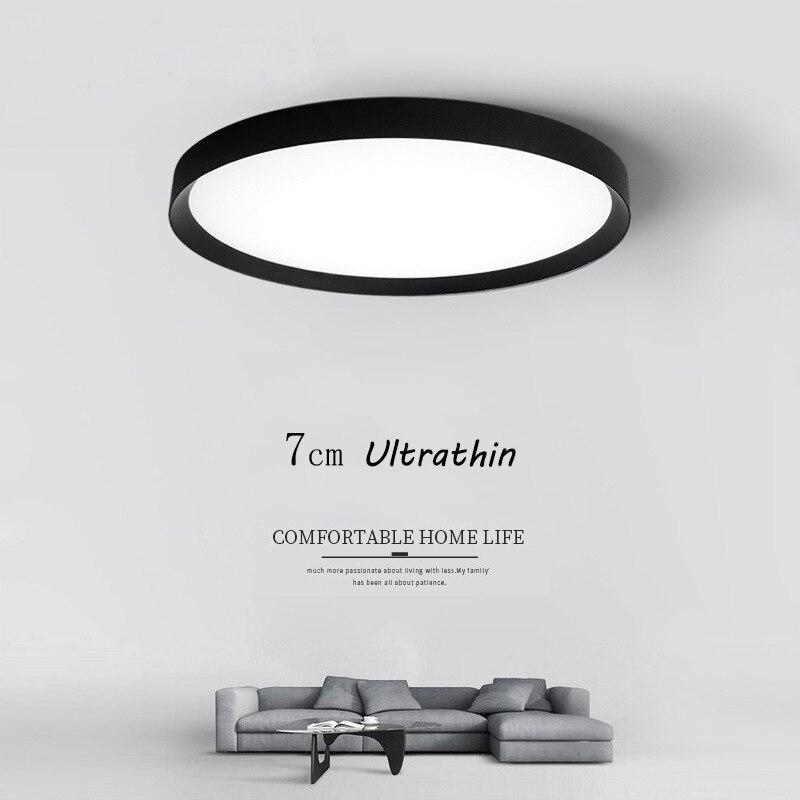 RC затемнения ультратонких 7 см светодиодный потолочный светильник Гостиная лампы Современные Простые спальня лампа столовой Потолочные св...