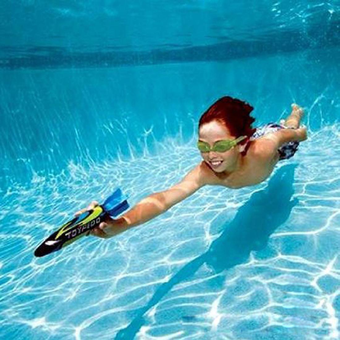 4 Pcs/Set Underwater Grasping Toys Torpedo Toy Children Swimming Pool Diving Underwater Toys Kid Boy Girl Rocket Throw Torpedoes