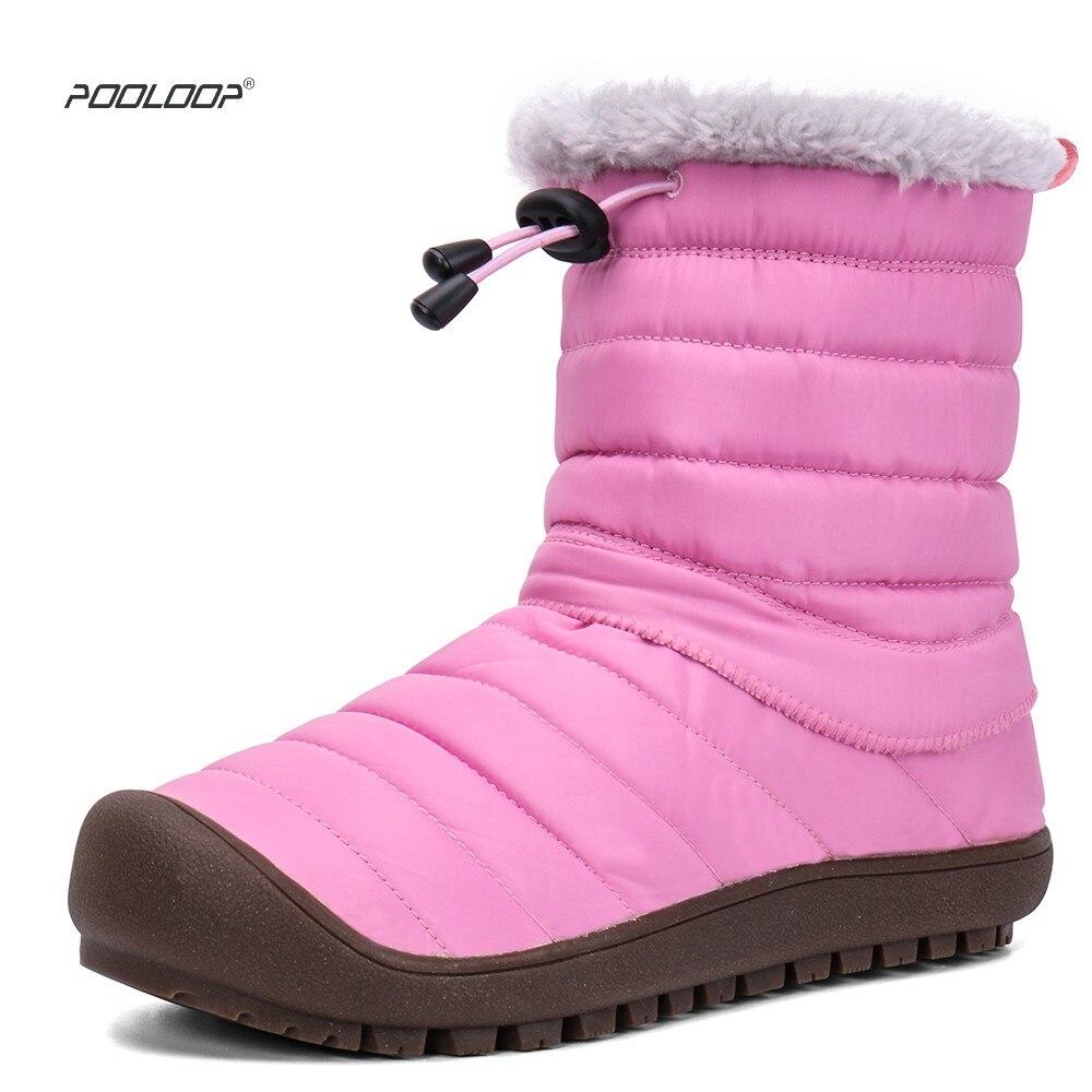 Bottes de neige 2018 classique imperméable femmes bottes d'hiver en fourrure chaude en peluche à l'intérieur antidérapant bas garder au chaud bottes de Ski chaussures femme