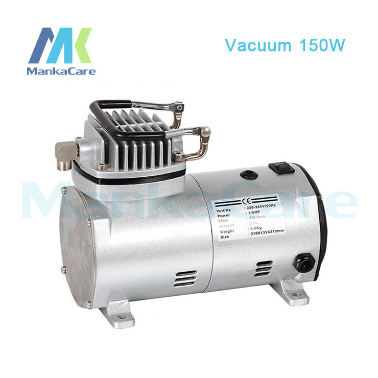 Manka Care - 220V (AC) 23L/MIN 150 W mini piston vacuum pump/Silent Pumps/Oil Less/Oil Free/Compressing Pump ac mini gear oil pump 4l min 220v fuel oil pump cast iron yd 2 5