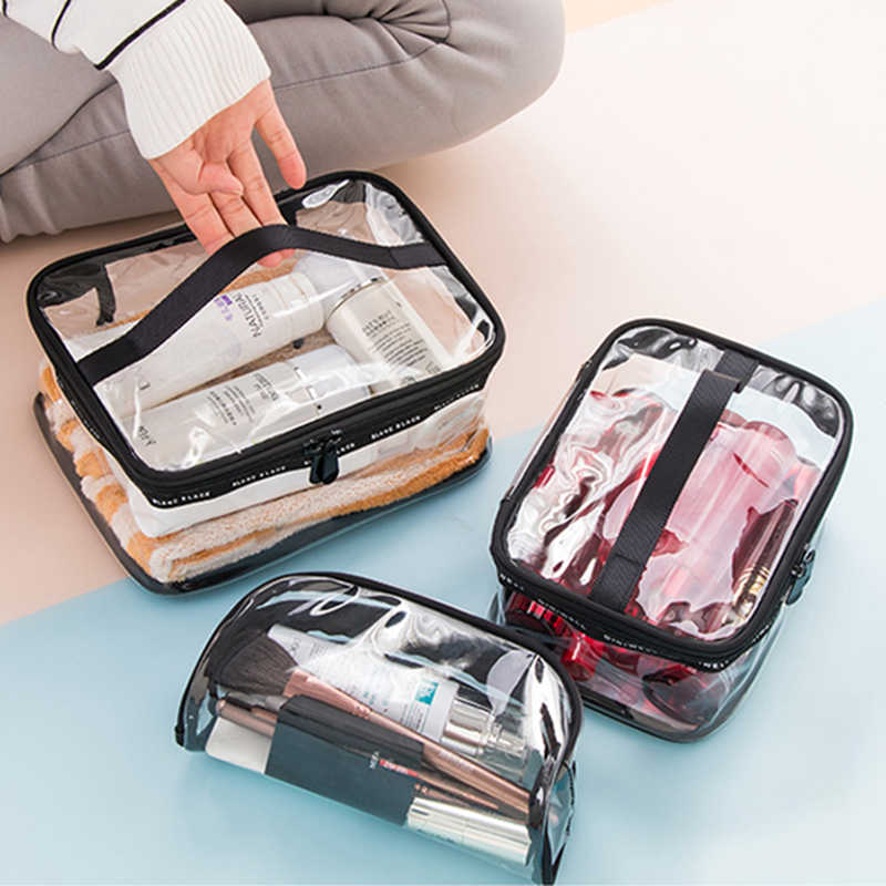 Fashion Transparent Cosmetic Bag Travel Pvc Small Toilet Bag For Women Zipper Makeup Bag Organizer Mini Holographic Makeup Pouch