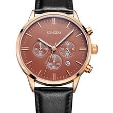 Хронограф часы Мужчины роскошные кварцевые часы uhren мужчины наручные часы авто дата reloj де-лос-hombres мужские часы 2016