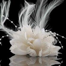 8 цветов цветок Перо бисера корсаж Заколки для волос чародей свадебные Hairband партия
