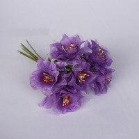 4 CM sztuczny jedwab pręciki Organza róże bukiet, ręcznie nadgarstek stanik kwiat garland włosów akcesoria, boutonniere, diy układ