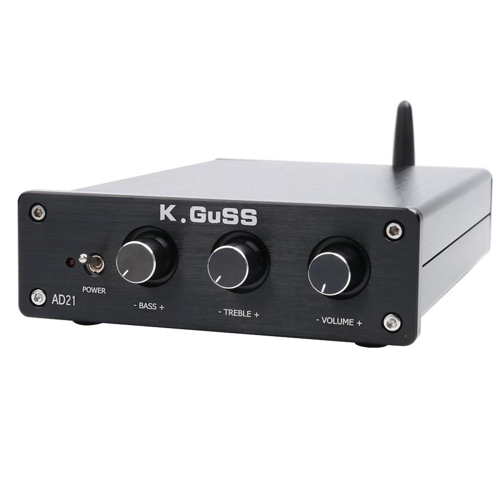 K. GUSS AD21 Classe D HIFI audio TPA3255 2.1 Bluetooth (IIS) DAC PCM5100 amplificatore di potenza 150 W + 150 W + 300 W