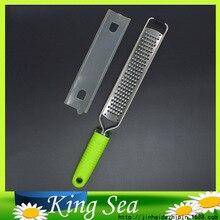 Gemüseschneider Lange Microplane Reibe mit Runde Form Klinge, gemüsereibe, zitrone Zester mit Kunststoffabdeckung,