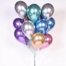 10pcs 12inch New Glossy Metal Pearl Latex Balloons Thick Metallic Colors Inflatable Air Ballons Globos Birthday Party Decoration