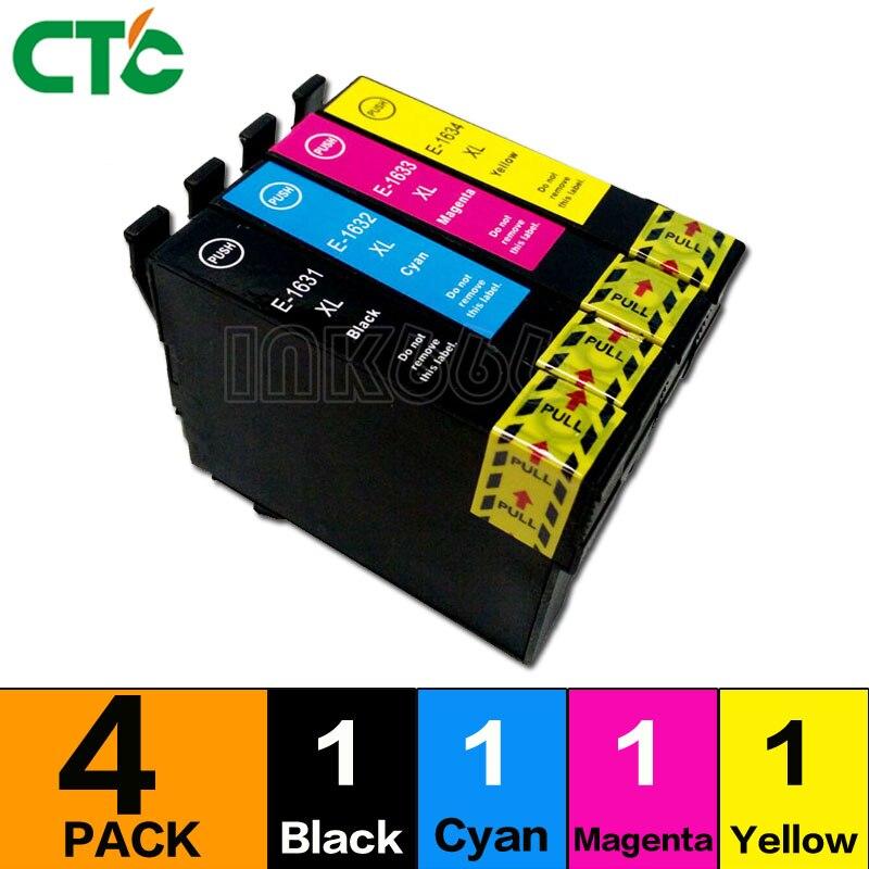 1 Set 16 16xl Compatibel Inkt Cartridge Voor Workforce 2010 2510 2520 2530 2540 2750 2760 Printer T1631 T1621 Perfect In Vakmanschap