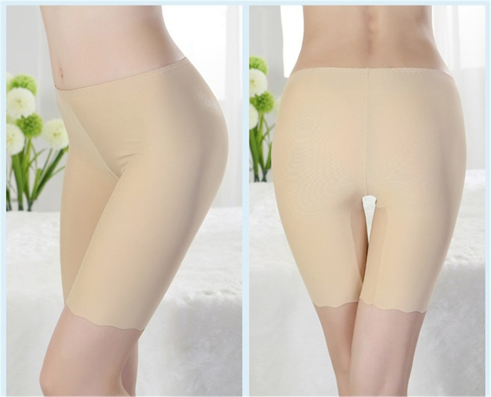 HTB1ReJ6rKSSBuNjy0Flq6zBpVXaa - Women Ice Silk Safety Pants Seamless Boy Shorts Boxer Female Modal Briefs Panties Ice Silk Safety Short Pants Underwear