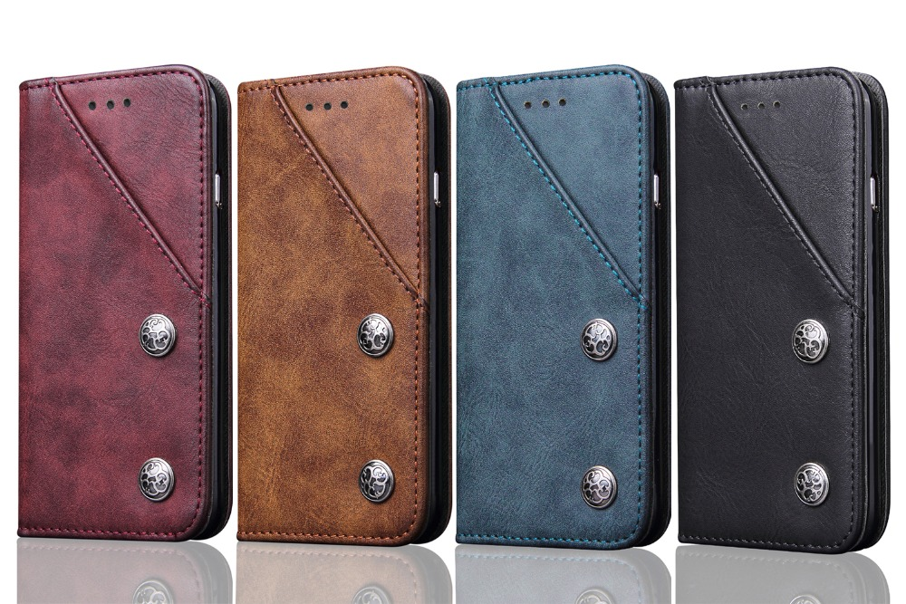 Luxury Wallet PU Leather Case with Stand and Card Holder Phone Bag Flip Cover for iPhone 6 6S 8 7 Plus S8 S8 NOTE 8 in Wallet Cases from Cellphones Telecommunications