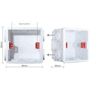 Image 5 - SRAN 430mm * 86mm האיחוד האירופי תקע קיר שקע חשמל בית רב מסגרת שחור/לבן/זהב להבת מעכב PC פנל שקעי