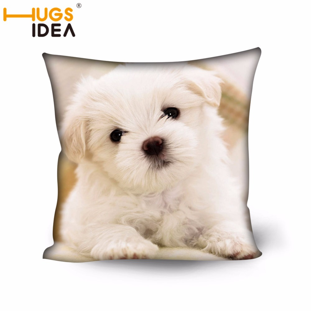 HUGSIDEA <font><b>Pillow</b></font> Cover Cute Dog Designer Cushion Cover Home Decorative Animal Style Cheap <font><b>Pillow</b></font> <font><b>Case</b></font> <font><b>50x50cm</b></font> Anti Dirty Cover image