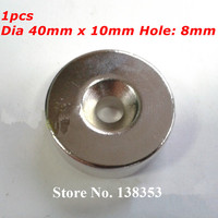 1pcs Bulk Super Strong Neodymium Countersunk Ring Magnets Dia 40mm X 10mm With Hole 8mm N35