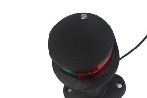 Image 3 - 12 V הימי סירת LED ניווט אור אדום ירוק Bi צבע 360 תואר כל סיבוב אות מנורת 124 MM